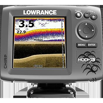 Lowrance® HOOK-5x è un fishfinder