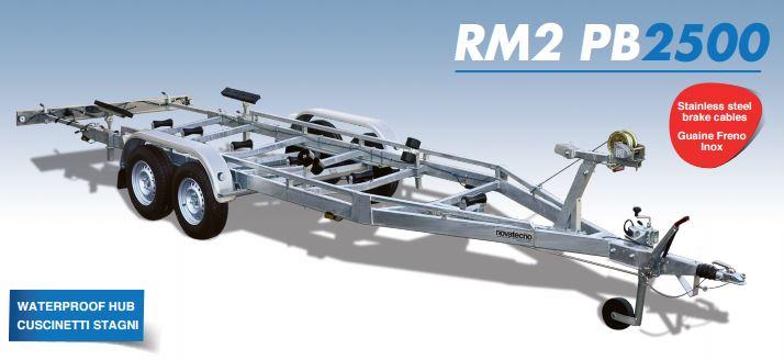 rm2 pb 2500 rimorchi per trasporti nautici