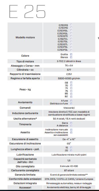 Evinrude-E25-caratteristiche